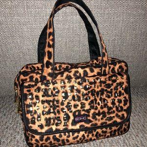 Cheetah Cosmetic Travel Bag
